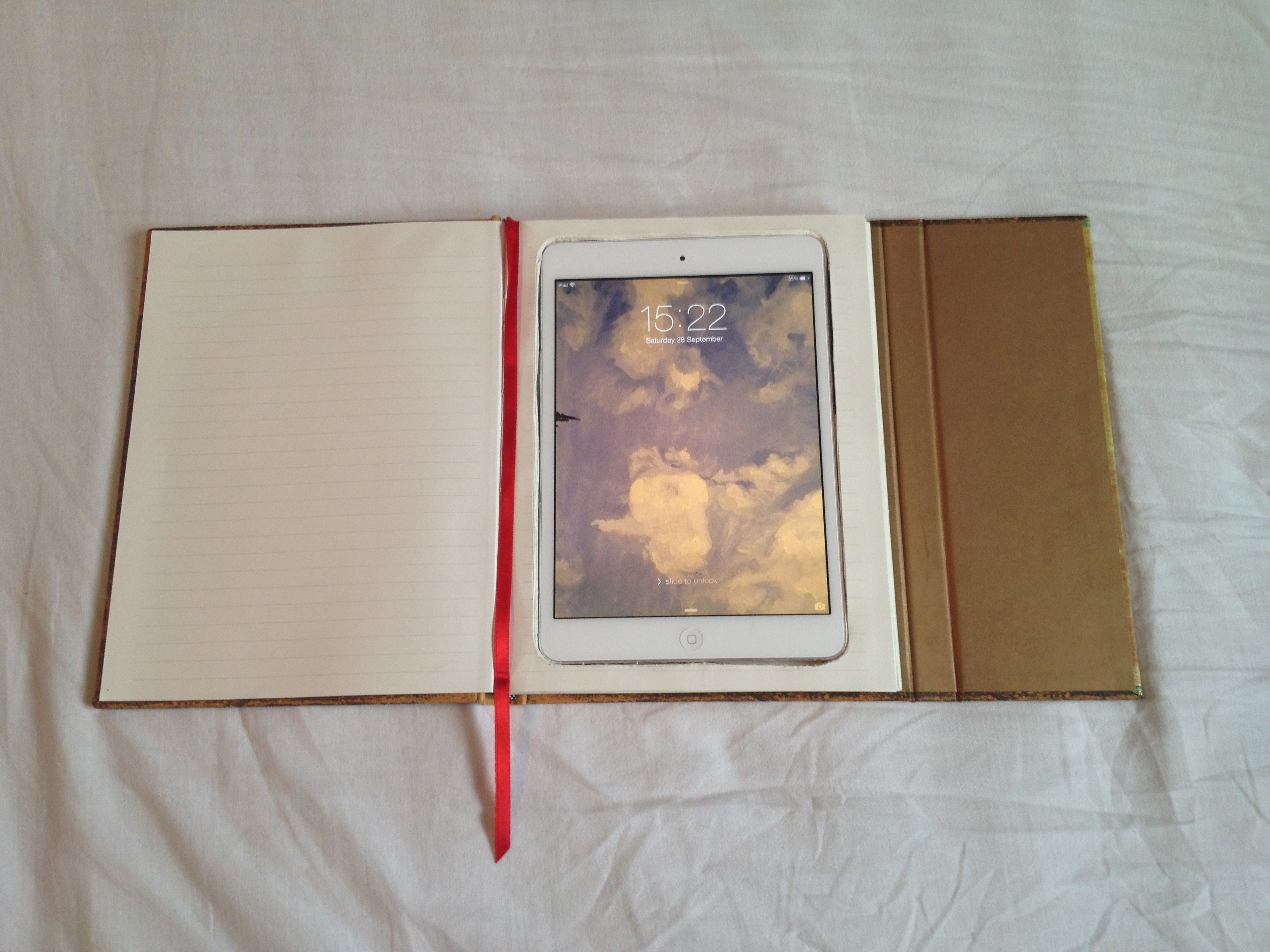 Beautiful notebook as an iPad Mini case